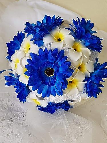 Bouquet Sposa Blu.Laurea Bouquet Sposa Blu Elettrico Bouquet Da Lancio Promessa Di