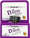Twinlab Vitamin D3 1000 + K2 Dots, 60 Tablets