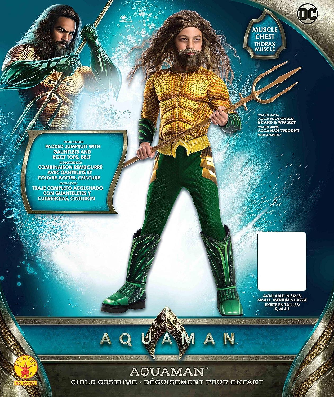 Aquaman Boys Fancy Dress Justice League Film Comic Book Super Hero Kids Costume