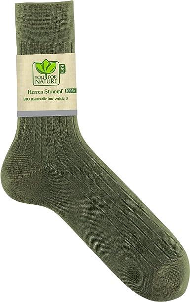 YOU FOR NATURE – Calcetín para caballero 100% algodón Bio ...
