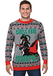 Amazoncom Ripple Junction Krampus Knit Ugly Christmas Sweater