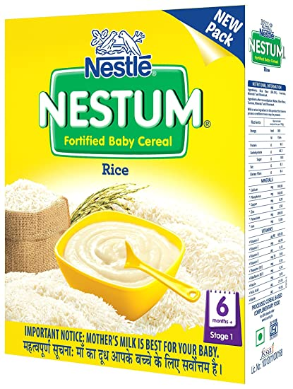 Nestlé NESTUM Baby Cereal – From 6 months, Rice, 300g Bag-in-