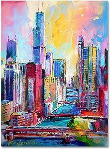 Chicago 3 by Richard Wallich, 18x24-Inch Canvas Wall Art