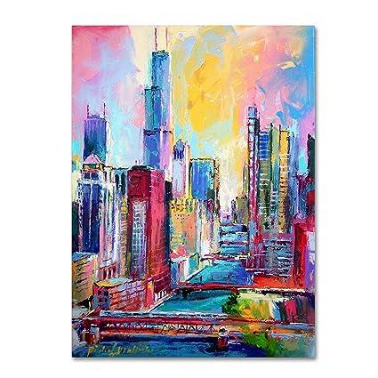 Amazon.com: Trademark Fine Art Chicago 3 by Richard Wallich, 35x47 ...
