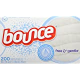 Bounce Fabric Softener Dryer Sheets, Free & Gentle, 200 Count - Packaging May Vary