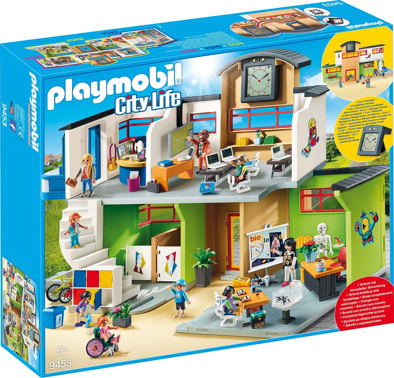 PLAYMOBIL 9453 Spielzeug - Große Schule mit Einrichtung: Amazon.de ...