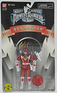 Mighty Morphin Power Rangers the Movie Red Ranger with Movie Coin