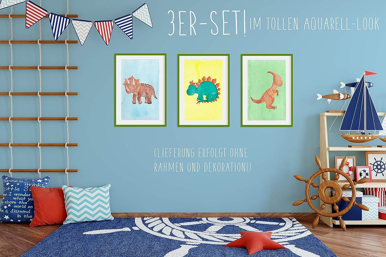 Tiere Kinderbilder Kinderzimmer Bilder f/ür Kinderzimmer /& Bilder Babyzimmer DIN A4 ohne Bilderrahmen 1 Kinder-Poster Junge M/ädchen Baby Feen Set Nr HappyWords/® 3er Bilder Set
