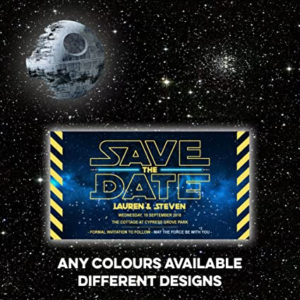 Star Wars Save The Date Dead Darth Vader Princess Leia And Han Solo Stormtrooper