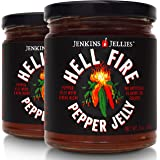Jenkins Jellies (Pack of 2) Hell Fire Pepper Jelly 11oz, Organic Hot Pepper Jelly made with 7 Fresh Peppers in…