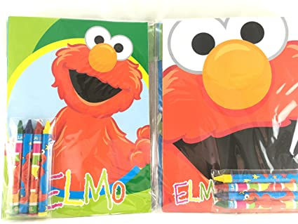 Party Favors Sesame Street Coloring Book Crayon Set 12 Pack Assorted Style