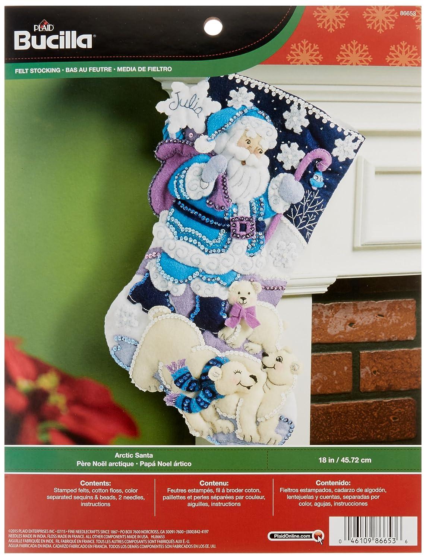 Santa Claus Felt Applique Stocking Kits