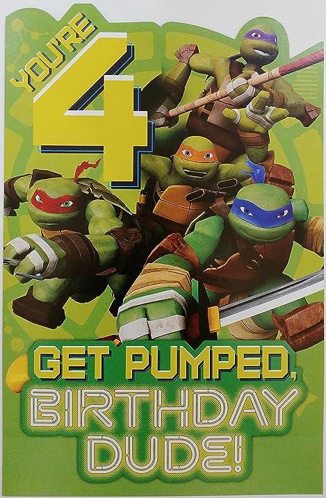 Amazon Youre 4 Get Pumped Birthday Dude Teenage Mutant