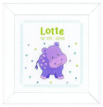 Amazon.com: Vervaco – Kit para cojín púrpura hipopótamo ...