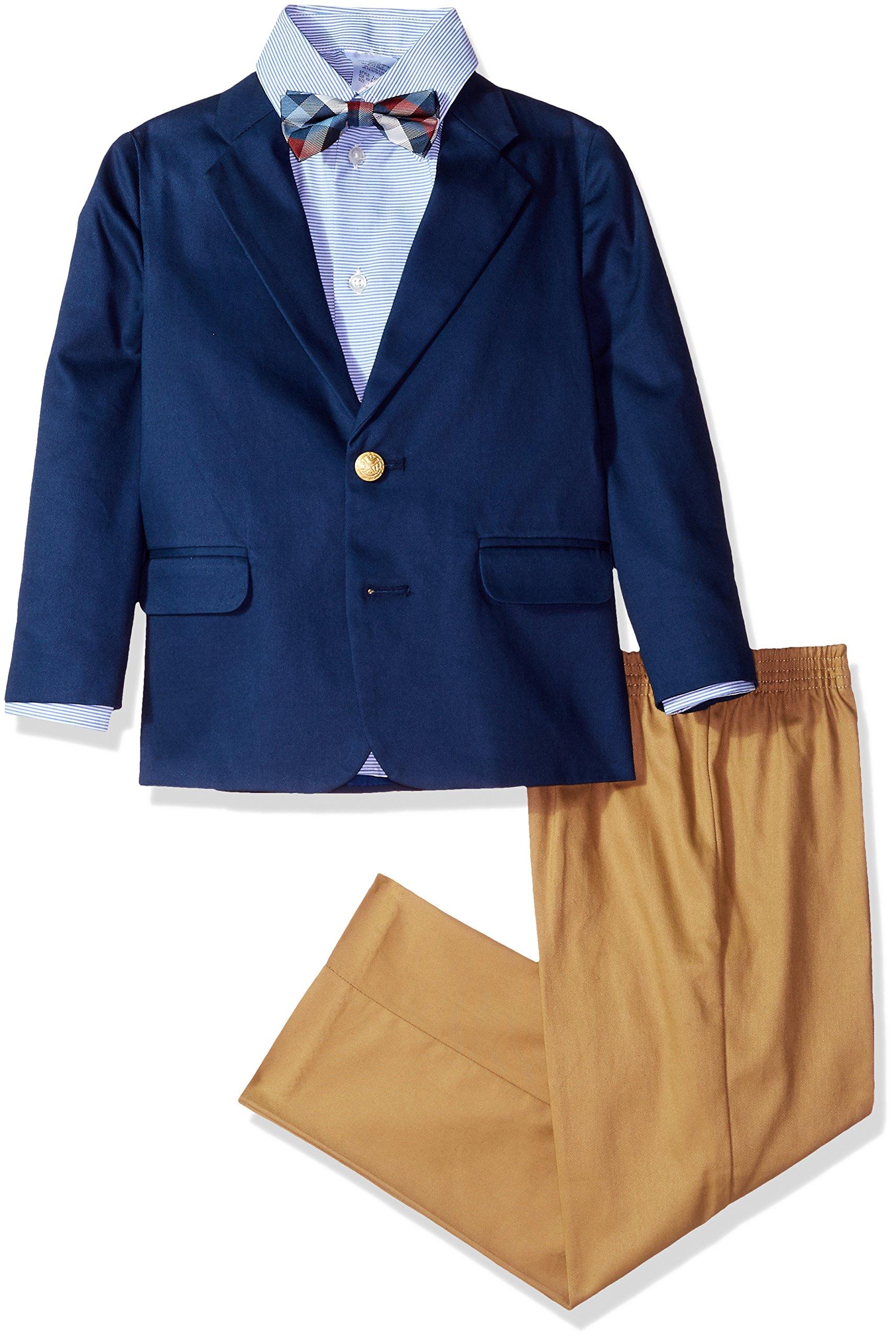 IZOD Kids Little Boys' Four Piece Formal Suit Set, Dark Blue, 6