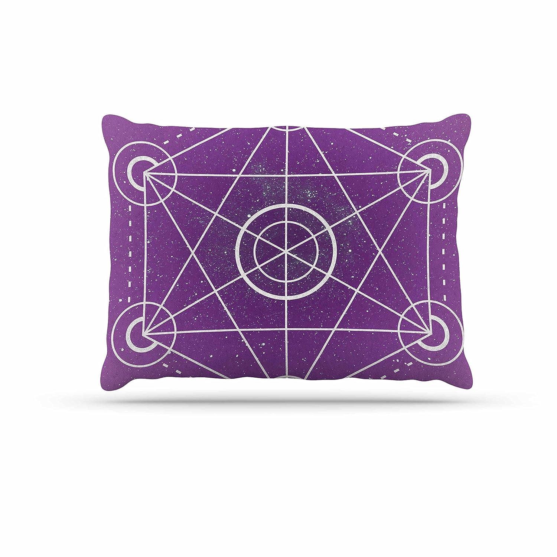KESS InHouse Matt Eklund Culture Shock Yellow Purple Dog Bed, 50  x 40