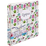 "Avery My Recipe Durable Binder, Extra Wide 1"" Slant Ring Holds 220 Pages, Vintage Kitchen Design (19800)"