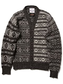 Jamieson's Fairisle Crazy V-neck Cardigan 11-15-0760-247: Snow