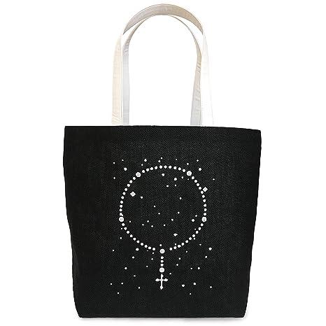 cd04eb6e6c99 Christian Bag Rosary Jute Bag - Black Color - Large Size - Tote Bag Women  Shoulder