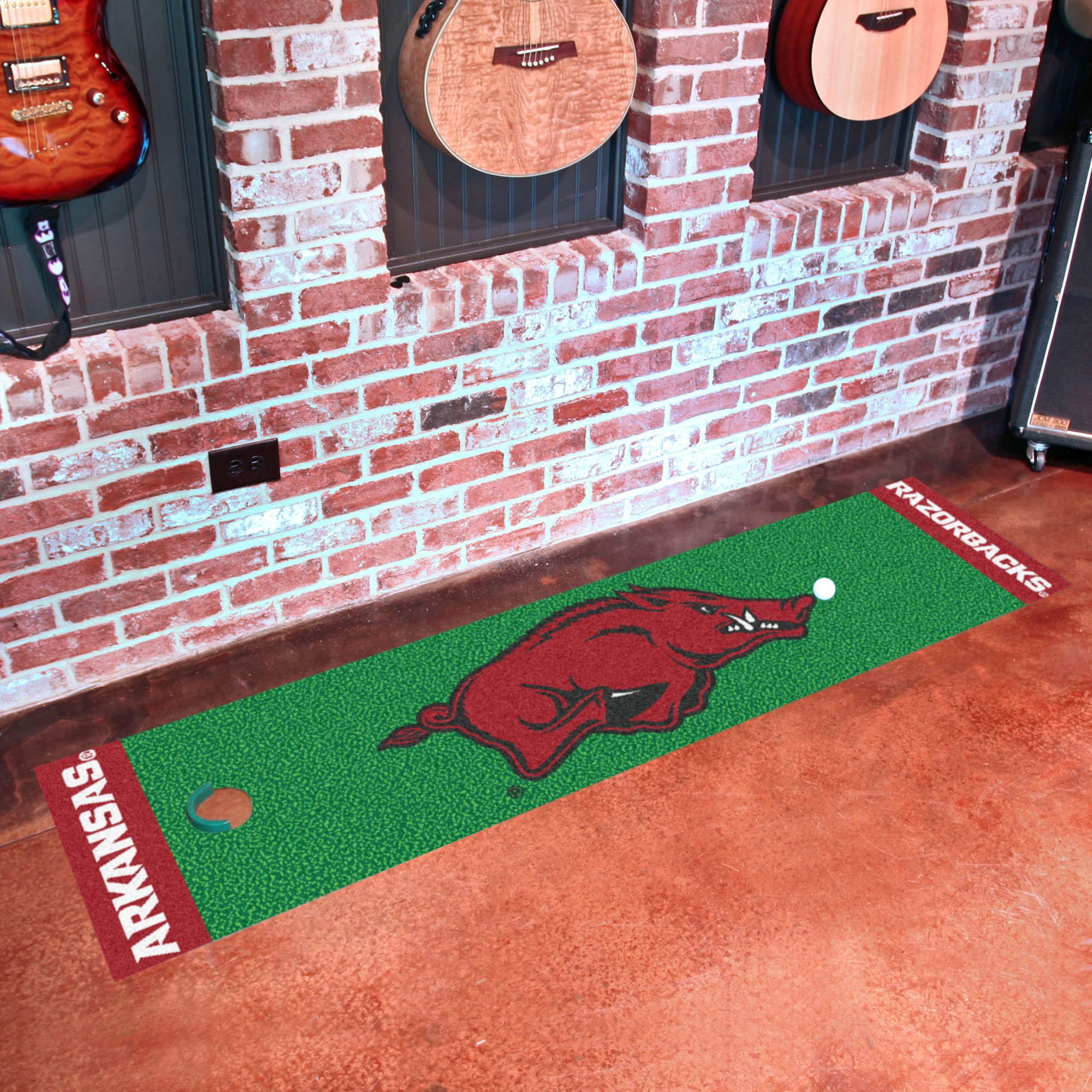 NCAA University of Arkansas Razorbacks Putting Green Mat Golf Accessory by Unknown (Image #2)