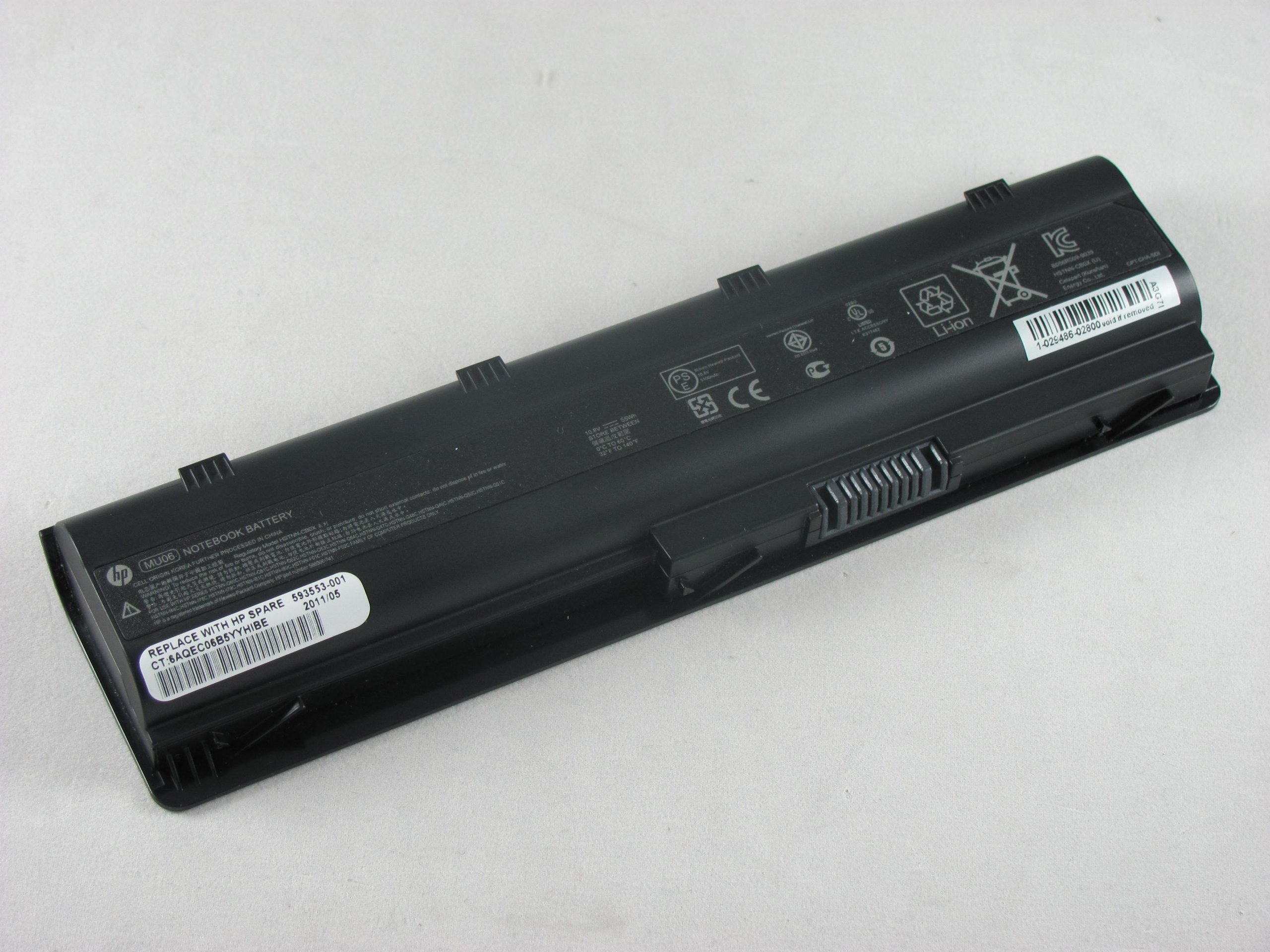 593553-001 - New HP Original Battery - MU06