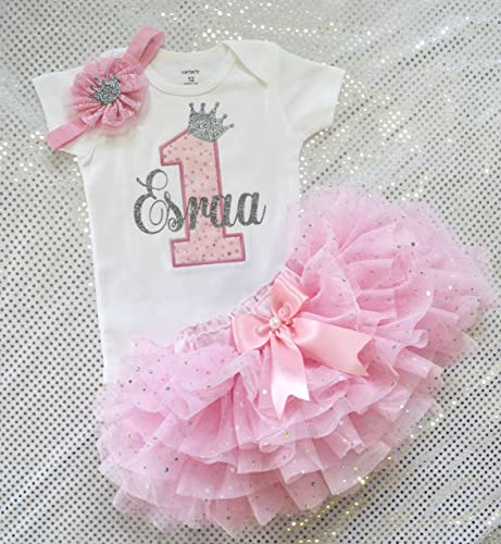 Amazon Baby Girls First Birthday Outfit Girl One Year Old 03 24 Months Handmade