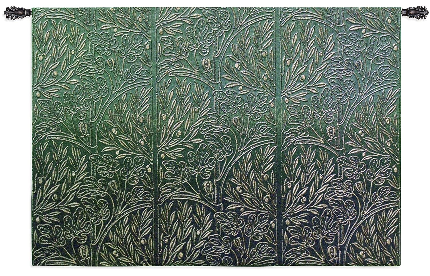 Fine Art Tapestries - green fabric tapestry