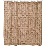VHC Lewiston Printed Burlap Unlined Shower Curtain