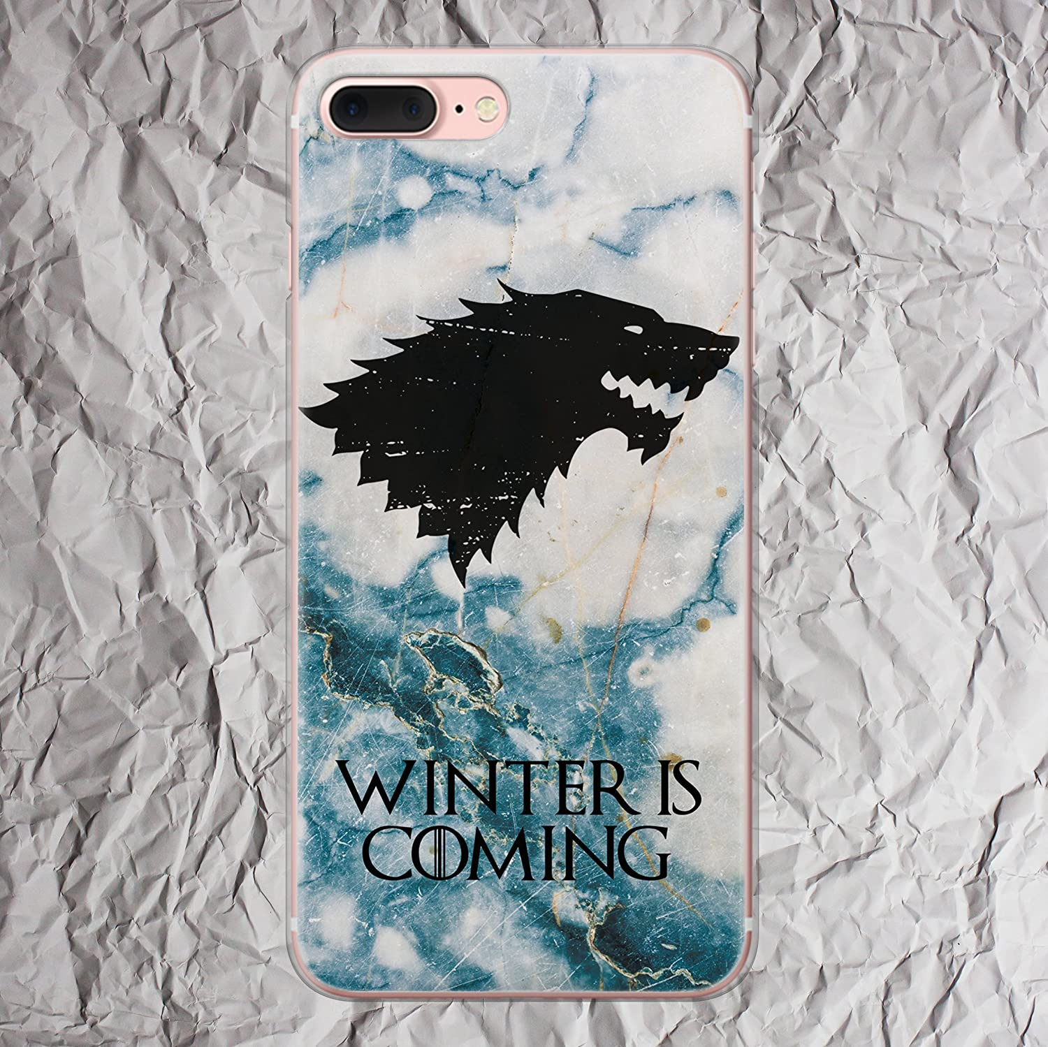 Game of Thrones mug case House Stark Winter is Coming t-shirt iPhone X 8 7 6s 6 Plus se 5se 5 5s 5c 4s 4 Case Gifts design for Cell i Phone Cover