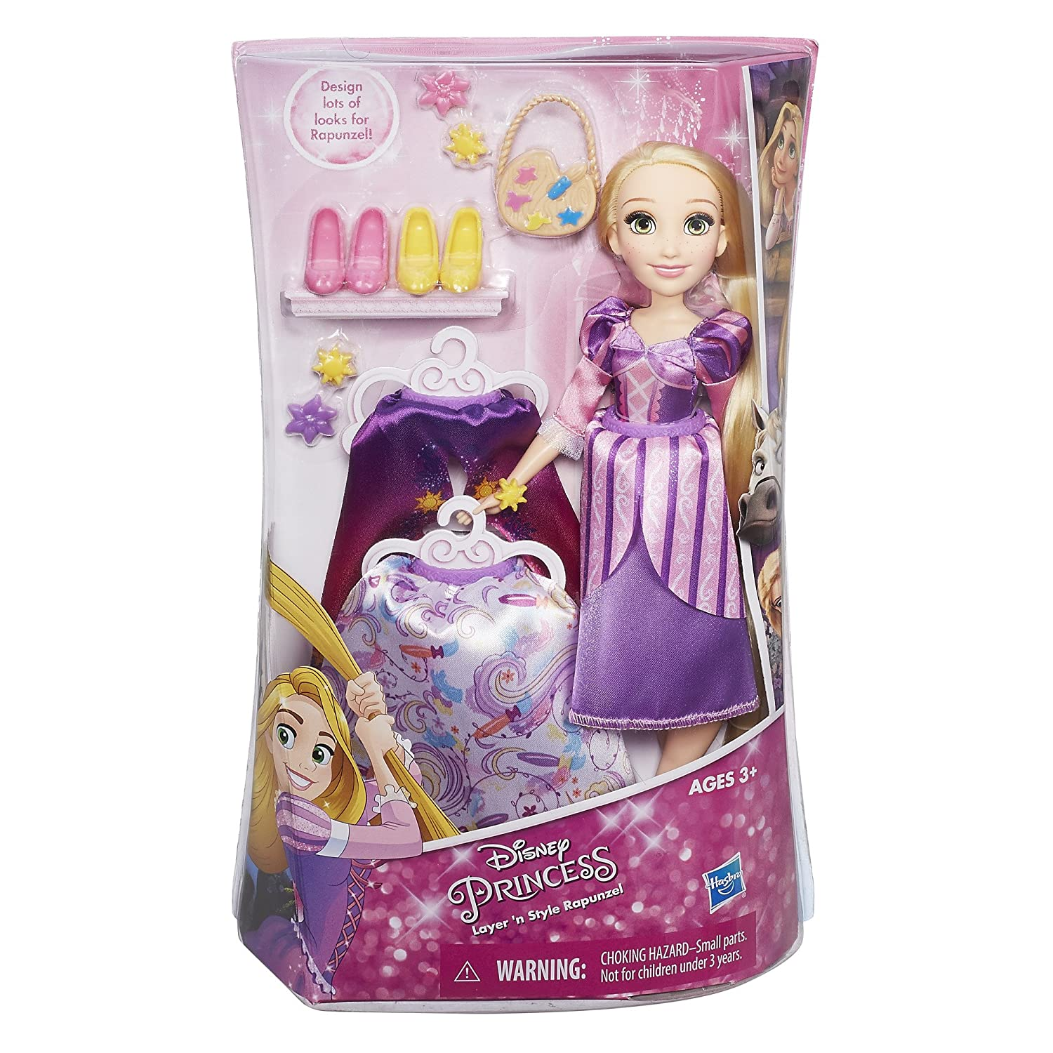 Disney Princess Layer /'n Style Rapunzel Doll with Fashion Accessories