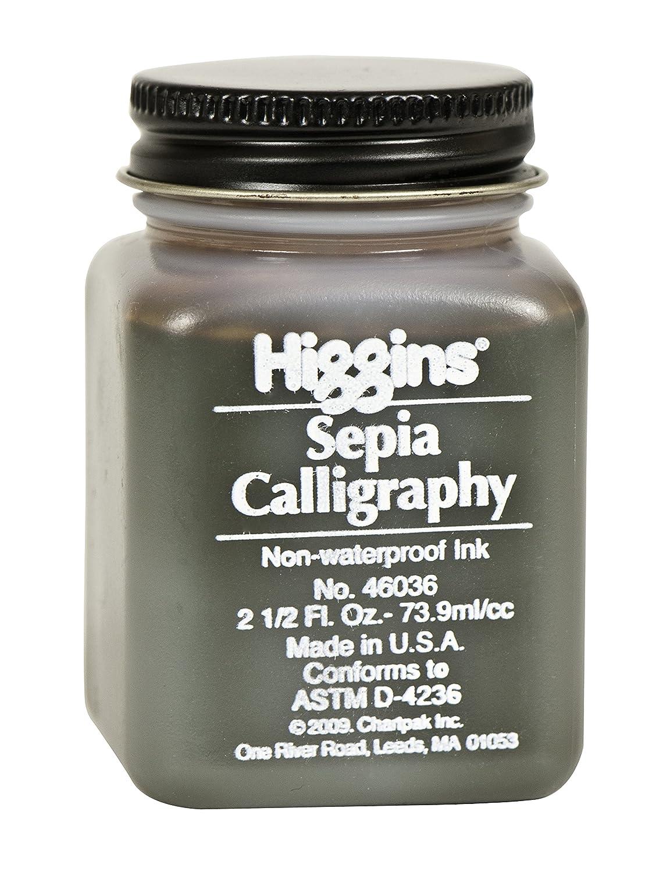 Higgins 44314 2 oz Calligraphy Waterproof Ink, Black
