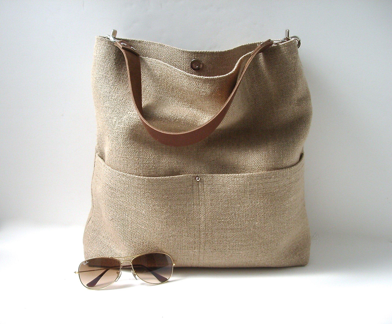 Woven Jute Bucket Bag