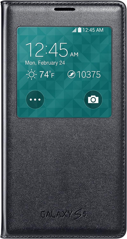 Samsung Galaxy S5 Case S View Flip Cover Folio, Black