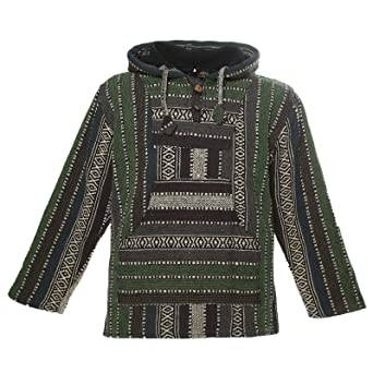 a13bfbd6a062a3 Kunst und Magie Nepal Baja Jerga Sweatshirt Poncho mit Fleecefutter Kapuze:  Amazon.de: Bekleidung