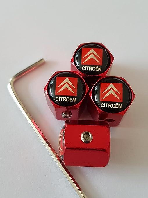 comment acheter fournisseur officiel dernier Speed Demons Citroen rouge antivol Bouchons de valve alliage casquettes de  luxe tous les modèles Capuchon de valve