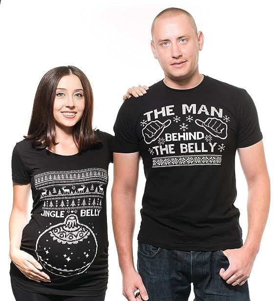 Amazon.com: Navidad par Camisetas Funny Ugly Christmas ...