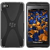 mumbi X-TPU Skin Case BlackBerry Z10 Silikon Tasche Hülle - Silicon Protector Schutzhülle transparent schwarz