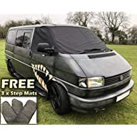 Rocky T2/bah/ía ventana de furgoneta Camper Protector de Wrap cubierta Transporter Frost negro Ciegos ojos