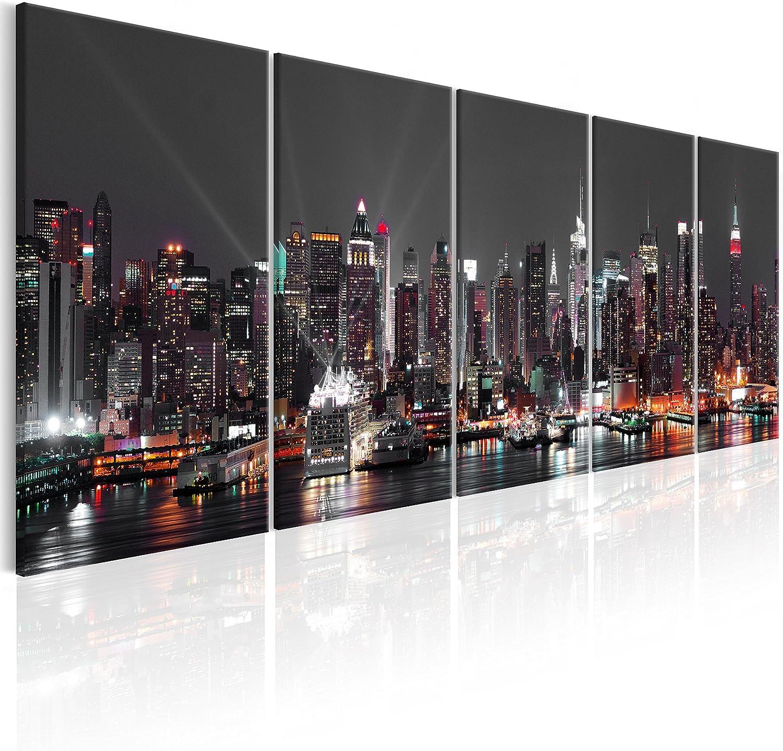 """Wohnzimmer Wand Glas Bild Glasbild /""""Stadt/"""" von DEKOGLAS 125x50 aus Acrylglas"""