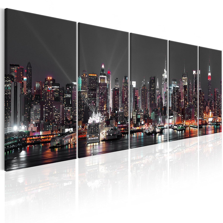 murando - Acrylglasbild New York 200x80 cm - Glasbilder - Wandbilder XXL - Wandbild - Bilder - Skyline New York NY Stadt City d-B-0185-k-o
