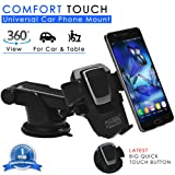 Mystical Master® Comfort Touch Car Mobile Holder & Car Mount (4th Generation) for Car Dashboard/Windshield & Table for all Phones & Cars - Powerful Suction & Reusable Super Sticky Gel Pad for Great Grip - Excellent Build Quality