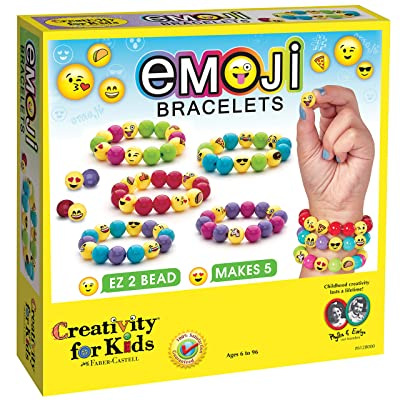 Creativity for Kids Emoji Bracelets, Makes 5 Bead Bracelets - Arts and Crafts Jewelry Making for Kids: Toys & Games