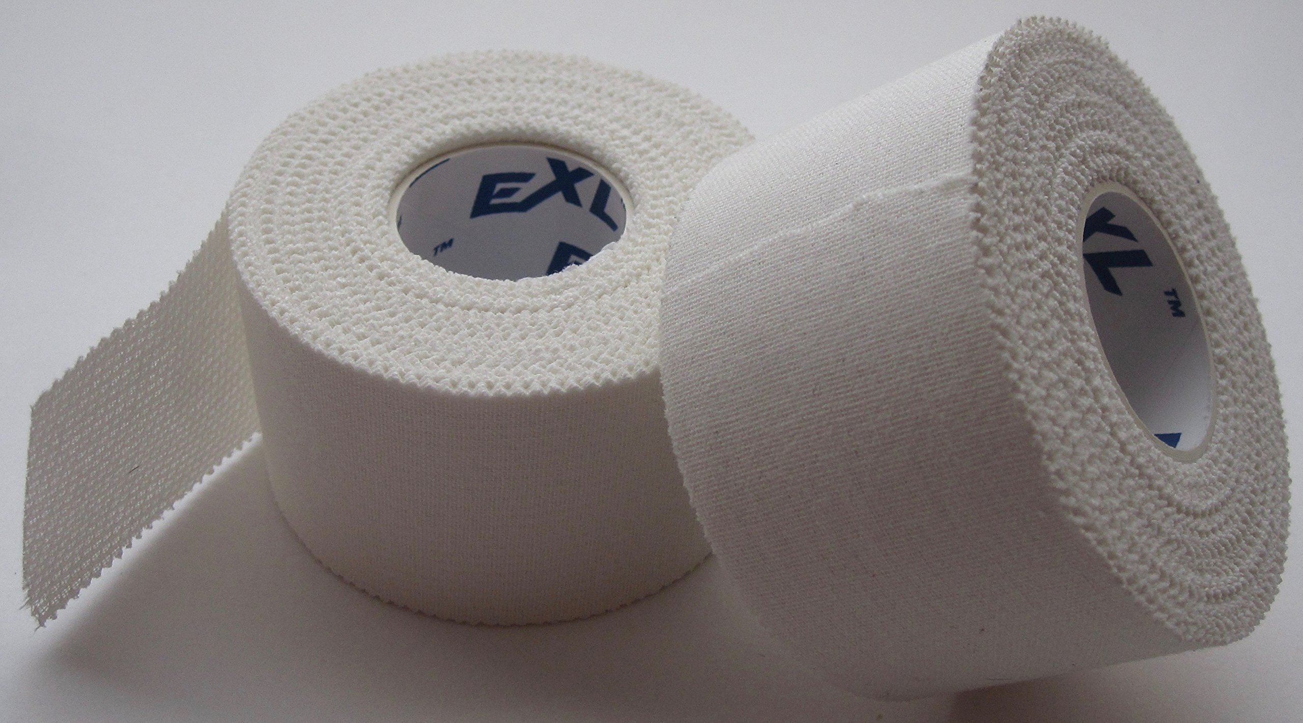 ExL Athletic Tape - Large Roll (1.5 inches by 10 Yards) Latex-Free (White) Case of 32 Rolls