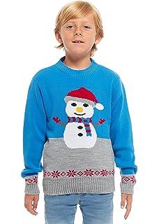 8a060f24fdf4 HSA Boys Girls Kids Children Unisex Christmas Xmas Knitted Novelty, Retro,  Elf, Football