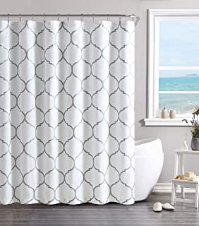 VCNY Home Ogee Shower Curtain 72x72 Silver