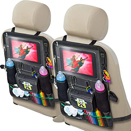 2 Pack Backseat Car Organizer for Kids - The Best Multifunctional Car Seat Organizer