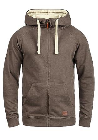 7c048eaeef98c Blend Speedy Veste en Sweat Zippé Sweat-Shirt À Capuche pour Homme À  Capuche Doublure Polaire avec Fermeture Éclair