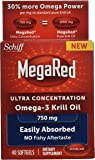 MegaRed 750mg Ultra Concentration Omega-3 Krill Oil, 40 softgels