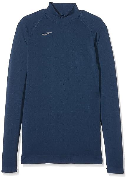 Joma Brama Classic - Camiseta térmica de manga larga para niños, color azul marino,