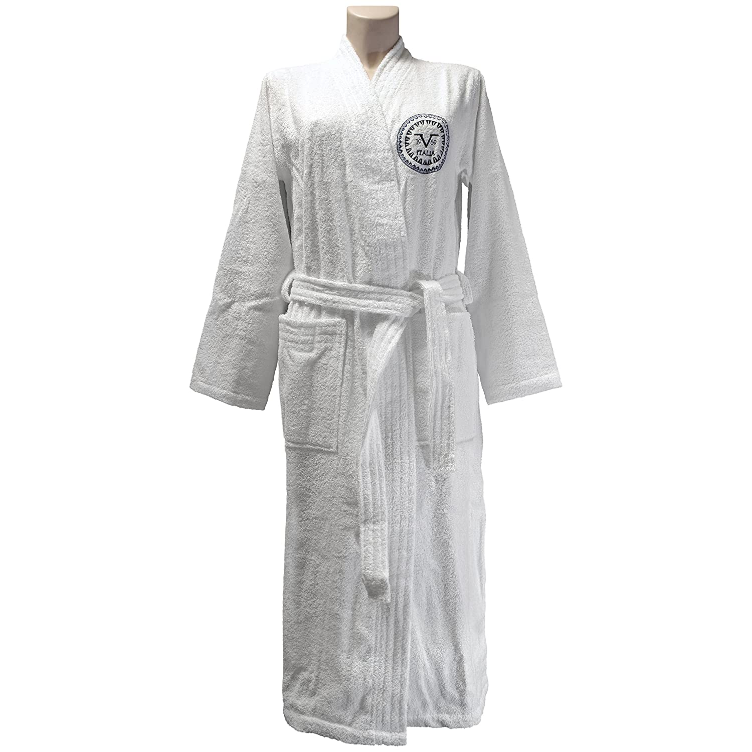 best choice select for official most reliable Versace 1969 Bathrobe, Terrycloth, White, Medium-Large ...